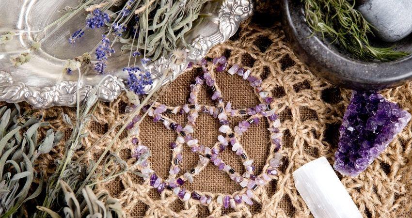 Pentagrama para hacer ritual wiccano