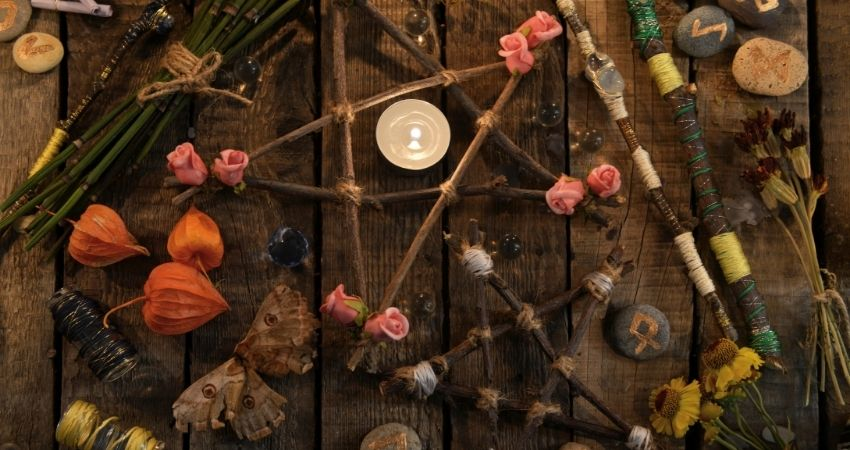 origenes pentagrama wicca
